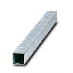 Poteau carré 40 x 40 x 2 mm pour panneau routier
