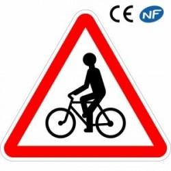 Panneau routier signalant le passage de cyclistes ou cyclomotoristes (A21)