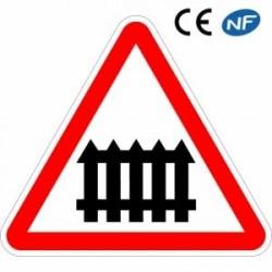 Panneau de circulation passage à niveau à fonctionnement manuel (A7)
