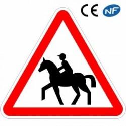 Panneau de route poursignaler unpassage fréquent de chevaux (A15c)