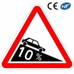 Panneau de circulation annonçant une descente dangereuse (A16)