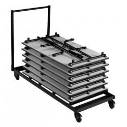 Chariot de transport pour tables 160 x 70 cm maxi