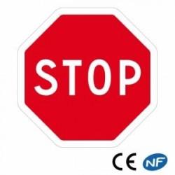 Panneau routier octogonal indiquant un STOP obligatoire