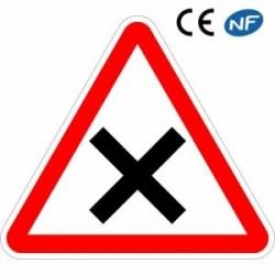 Panneau de circulation routière signalant une priorité à droite