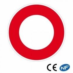 Panneau de route circulation interdite à tous les véhicules (B0)