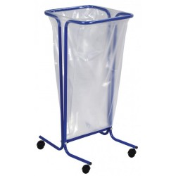 Porte sac poubelle roulant intérieur 110 Litres