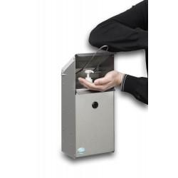Boite distributrice de gel désinfectant en inox