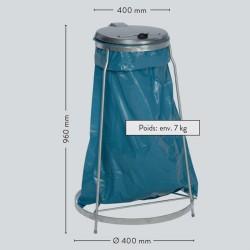 Support sac poubelles sur pieds an acier galvanisé à chaud