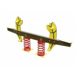 Balançoire d'extérieur en bois autoclave pour enfants de 2 à 12 ans