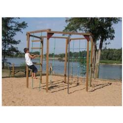 Structure de jeux en bois pour enfants de 6 à 12 ans
