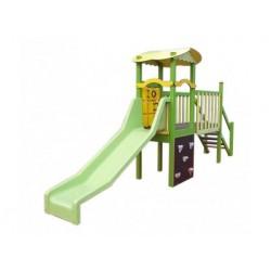 Toboggan et aire de jeux pour les enfants de 2 à 7 ans