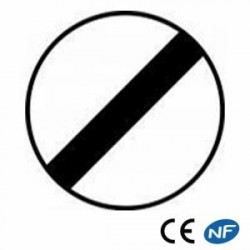 Panneau de signalisation pour une fin de toutes interdictions précédentes B31
