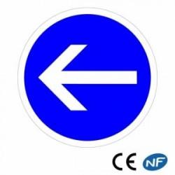 Panneau de circulation obligation de tourner à gauche B21.2
