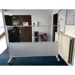 Cloison de séparation fixe pour bureau 1600 x 2000 mm