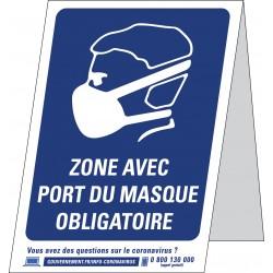 Affiche port du masque obligatoire en A4, A3 ou format chevalet