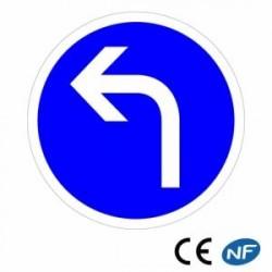 Panneau de circulation obligation de tourner à gauche B21c2