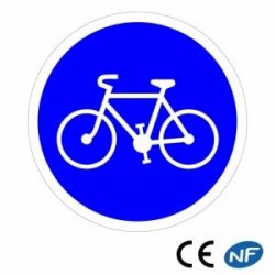 Panneau de signalisation annonçant une piste ou bande cyclable obligatoire B22a