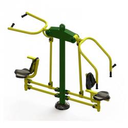 Agrès duo ascenseur cheval pour renforcement musculaire sur parcours de sport