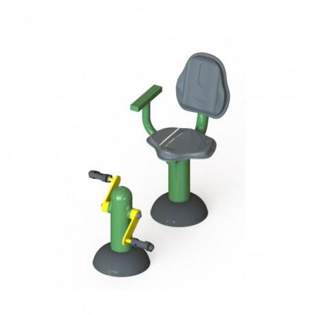 Pédalier et son siège pour travail des articulations