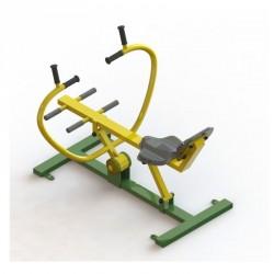 Appareil de musculation pour tout le corps le rameur en acier