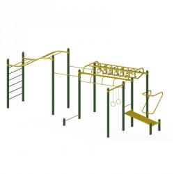 Station complète de musculation Cross Fit en acier pour parcours sportif