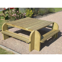 Table pique-nique en bois BRIVE carrée