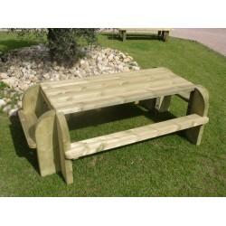 Table pique-nique en bois BRIVE rectangulaire