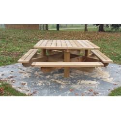 Table de pique-nique en pin LORIENT carrée