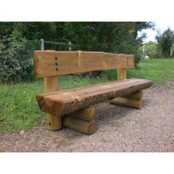 Un beau banc en bois massif de fabrication française, bois PEFC autoclave IV