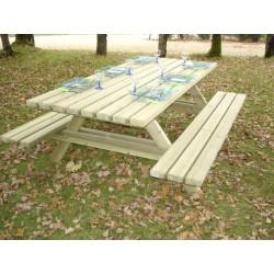 Table pique-nique en bois pour collectivité