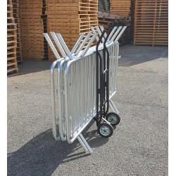 Diable de transport multifonction PRATIC'DIABLE pour barrières de police et chaises