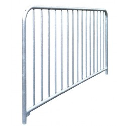 Barrière à barreaux en acier galvanisé sans peinture (15 barreaux)