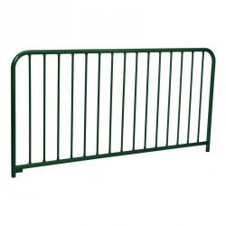Barrière à barreaux en acier galvanisé avec peinture (15 barreaux)