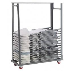 Chariot de rangement pour chaises pliantes en polypro Polychaise