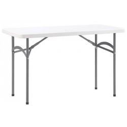 Table pliante rectangulaire en polypropylène 120x60