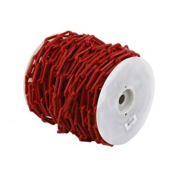 Bobine de chainette en plastique rouge