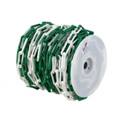 Bobine de chaine de chantier en plastique vert et blanc