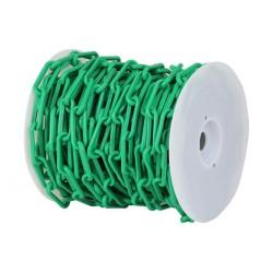 Bobine de chaine de chantier en plastique vert