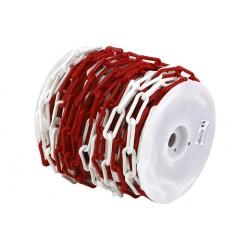 Bobine de chainette en plastique rouge et blanc