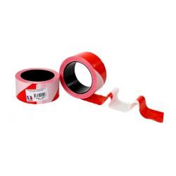 1 rouleau de ruban de chantier haute qualité rouge et blanc