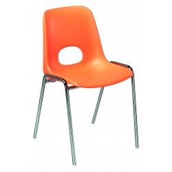 Chaise fixe pour collectivité Bologne orange