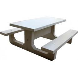 Table de pique nique en béton