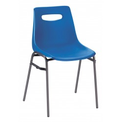 Chaise de collectivité empilable Campus - coque bleu - Leader Equipements