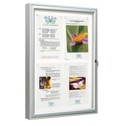 Visuel de la vitrine extérieure pour afficher vos informations