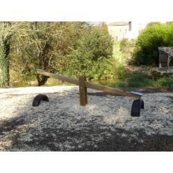 Visuel de la balançoire en bois 2m