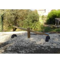 Balançoire horizontale en bois (2m)