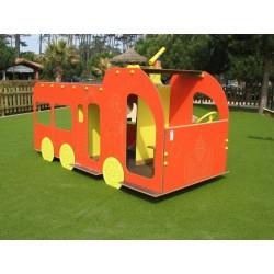 Structure de jeu extérieur en forme de camion de pompier