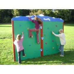 Jeu extérieur : découvrez le mur d'escalade pour enfant Escalador double