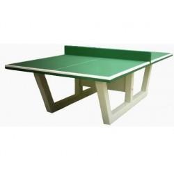 Visuel de la table de ping pong en béton - revêtement vert