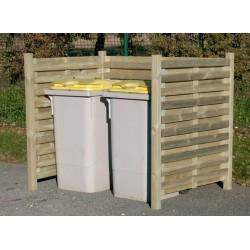 Cache poubelle et cache conteneur simple en bois